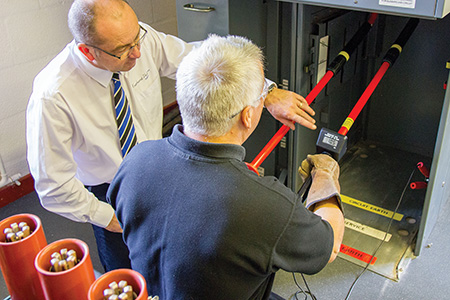 Electrical training facility's specialist test equipment