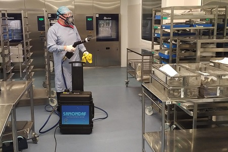 Effective disinfection of sensitive areas